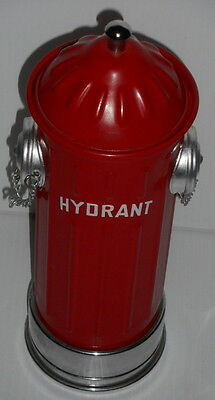 """Vintage Fire Hydrant Decanter Music Box 13"""" Red plays when picked up"""