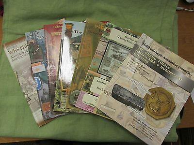Lot of 7 Vintage Wild West Western Americana Numismatic Tokens Auction Catalogs