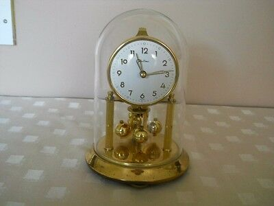 Bentima  Anniversary  Mantle Clock with Glass Dome