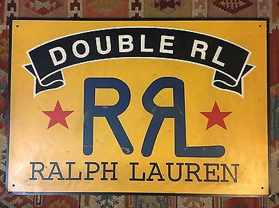 Ralph Lauren RRL Double RL RARE VINTAGE Metal Double Sided Advertising Sign