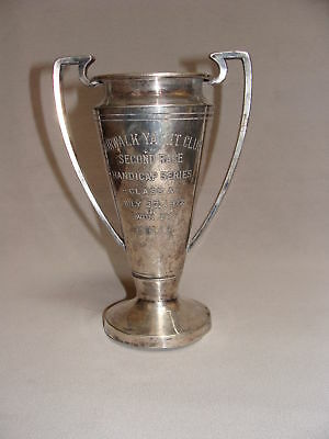 Silver Sailing Trophy Cup Norwalk Yacht Club CT 1912 Won by EOLIS