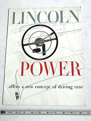 1953 Lincoln  Dealer Sales Brochure  Original
