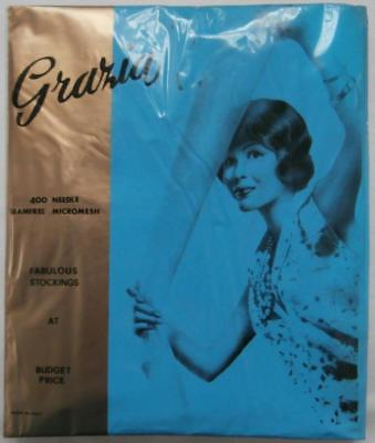 BNIP Vintage 1960's Natural Tan 20 Denier Stockings Italian Made by Grazia Sz 9
