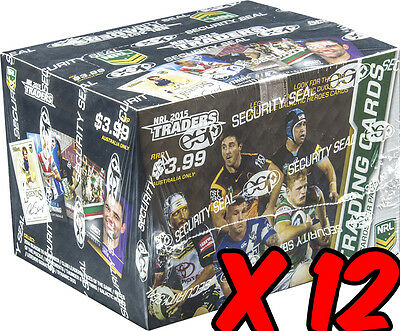 NRL 2015 RUGBY LEAGUE - Traders Trading Cards Box ~ Sealed Case (12ct) #NEW