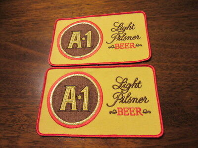 Lot Of 2 A-1 Pilsner Beer Advertising Uniform Patch Nos National Brewing Co