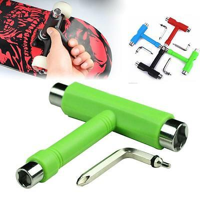 1x Skate T TOOL Skateboard Longboard Metal All In One Tool Wrench Quad Roller HF