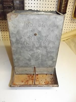 Vintage Galvanized Sanitary Feeder #88 Nelson Products Sioux City IA
