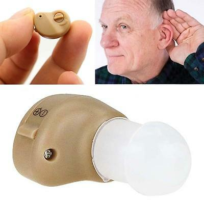 2 x Small In The Ear Best Sound Amplifier Invisible Adjustable Tone Hearing Aids