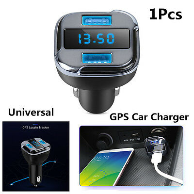 LED Car Real Time GPS Tracker Dual USB DC 5V 4.2A Car Charger Voltage Detector