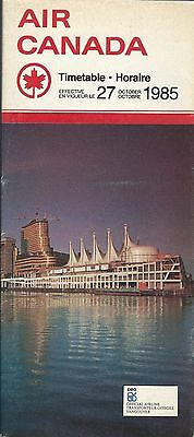 Airline Timetable - Air Canada - 27/10/85 - Expo 86 Canada Place Vancouver cover