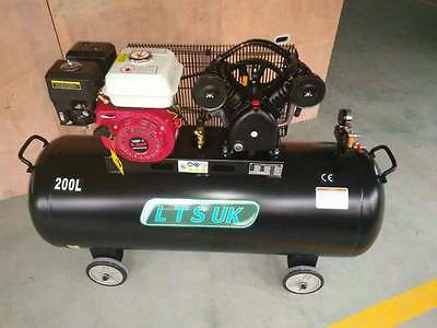 AIR COMPRESSOR 200 LTR  PETROL ENGINE 5.5 HP  ct398 INCS FREE 10 MTR AIRLINE