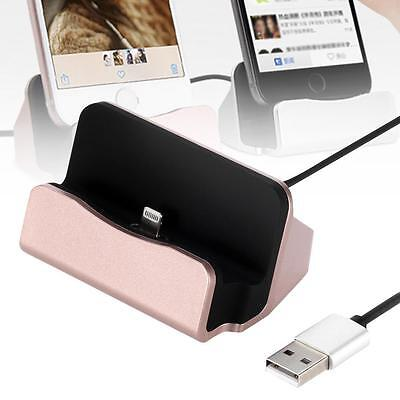 Charger Charging Sync Dock Cradle for Apple iPhone 6 6 plus 6s 5 5S 5c Pink Z2