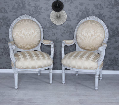 Lounge Suite Baroque Chairs Set Zwei Chair Couple Baroque Armchair