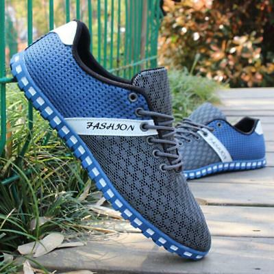 England Men Mesh Breathable Recreational Lace Up Shoes Casual Sneakers New BS