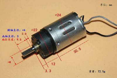 DC 6V 12V 370 Planetary Full Metal Gear Motor Large Torque Mute Gearbox Geared