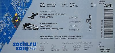 mint TICKET 21/2/2014 Olympic Games Sochi Eisschnelllauf Speed Skating A20