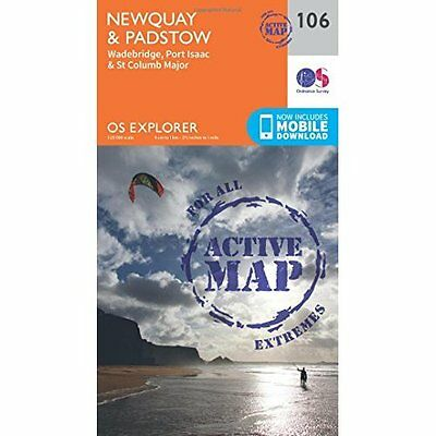 OS Explorer Map Active (106) Newquay and Padstow (OS Ex - Map NEW Ordnance Surve