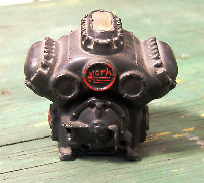 Antique vtg Miniature YORK Motor Engine Heater Incinerator? PA Metal PAPERWEIGHT