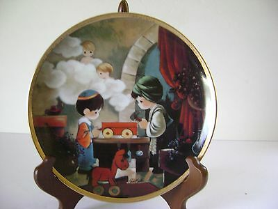 "Precious Moments Collectors Plate ""the Carpenter Shop"" By Sam Butcher"