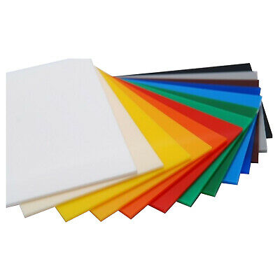 Colour Perspex Sheets 5Mm Thick A3 Size Acrylic Ideal Craft Material 23 Colours