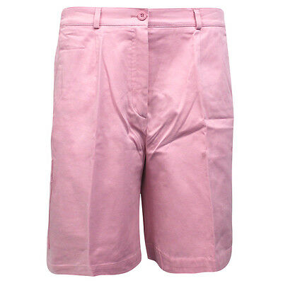 Lyle and Scott Golf Womens Solid Colour Golf Shorts Pink KK215 N16 DD78