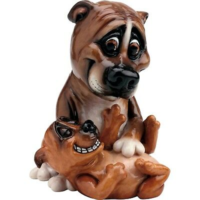"Pets With Personality Staffy and Pup Staffordshire Dog Figurine 7.25""L New!"