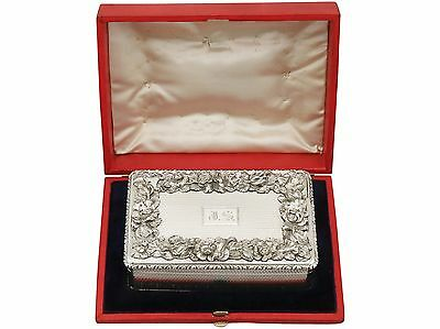 Antique Victorian Sterling Silver Table Snuff Box Edward Edwards II London 1843