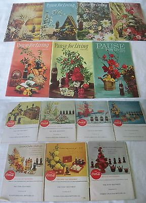 Vintage PAUSE FOR LIVING Magazines 7 COCA COLA Publications Assorted 1957-1961