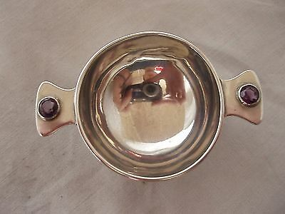 Quaich With Amethyst And Sterling Silver Birmingham 1908