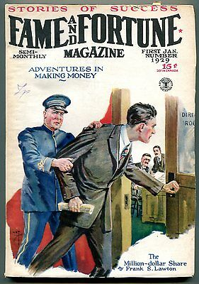 Fame and Fortune Pulp 1st January 1929- Frank Lawton VG-
