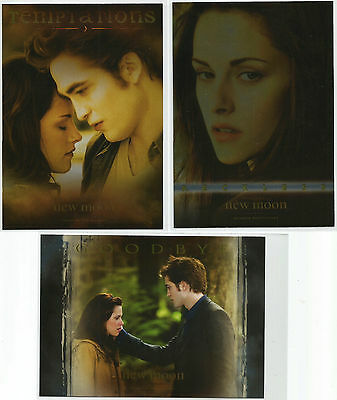 "Twilight New Moon Photocards ~ ""TEMPTATIONS"" 6-Card Insert Set (T-1~6) Topps UK"