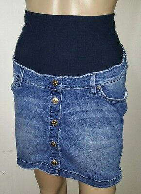 H&M Mama Maternity Button Front Denim Jean Skirt size 4