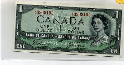 Canada 1954 Devils Head Bank Note Au 8812A
