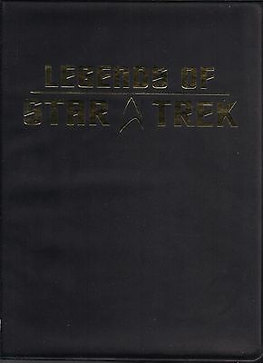 LEGENDS OF STAR TREK  FOIL STAMPED TRADING CARD ALBUM/BINDER w/16 EMPTY pgs NEW