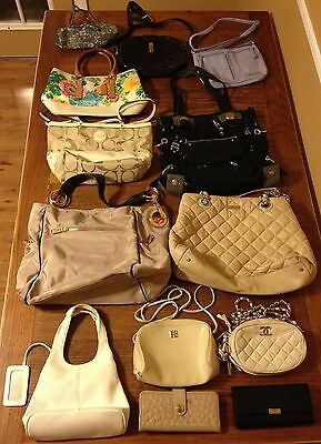 Wholesale Lot of 13 Handbags Purses Wallets Women's Givenchy Coach Kate Spade