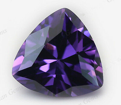 9x9MM 4.02CT AAAAA Natural Purple Amethyst Trillion Faceted Cut VVS Loose Gems