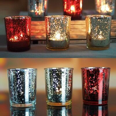 Mosaic Glass Candle Holders Tealight Votive Holder for Wedding Home Party Decor