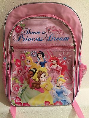 Children Disney Princess Backpack 16 Inches Pink - New