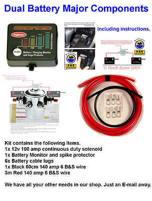 Dual Battery System - 4X4 - Quality Kits - New With Monitor And Spike Protection