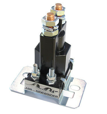 Dual Battery Isolator Solenoid - Silver Contacts - Continuous Duty - Abr