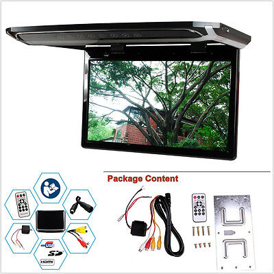 """12.1"""" 1080P HD In-Autos Roof Mounted MP3/MP4/MP5/Video/Media Player LED Monitor"""