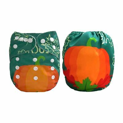 Baby Cloth Diaper Nappy Reusable Washable Pocket Pumpkin Happy Thanksgiving Day