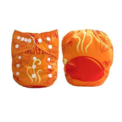1 Baby Cloth Diaper Nappy Reusable Washable Pocket Turkey Happy Thanksgiving Day