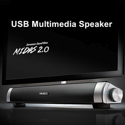 MIDAS-2.0 USB Multimedia Speaker Soundbar System For Computer PC Laptop Desktop