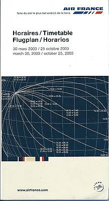 Airline Timetable - Air France - 30/03/03 - OW