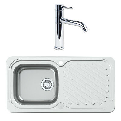 Astracast Ruby 965 x 500mm Stainless Steel 1.0 Bowl Kitchen Sink + Tap Pack