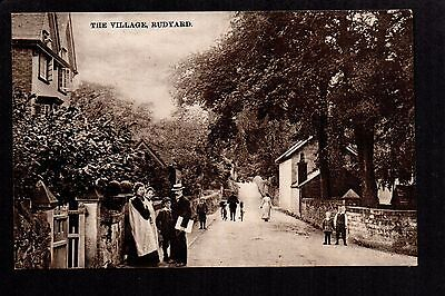 Rudyard Village - real photographic postcard