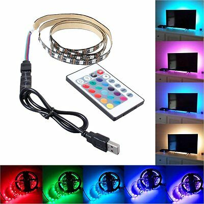 1m 5m 5V 5050 60SMD/M RGB LED Strip Light Bar TV Back Lighting Kit USB Control