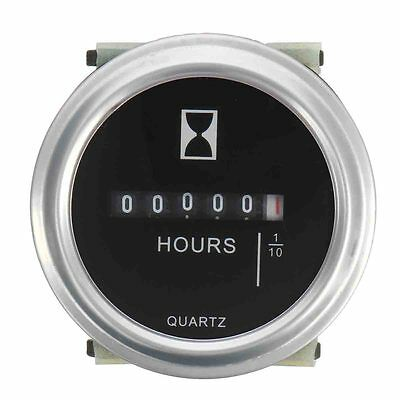 "2"" DC 10~80 V High Accuracy Quartz Hour Meter Boat Car Truck Engine Round Gauge"