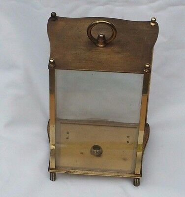 Vintage Kieninger & Obergfell Brass Carriage Clock Case 9""